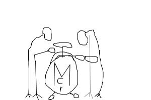 how to draw a drums set