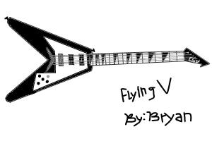 How to draw a ESP Gibson Kirk Hammett's guitar