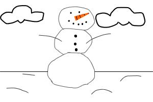 How to Draw a GREAT snowman