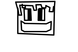 how to draw a happy minecraft player