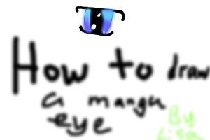 How to draw a manga eye
