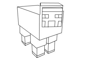 How to draw a minecraft sheep