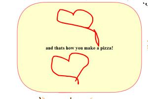 how to draw a pizza and make a pizza