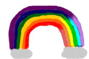 How to draw a simple rainbow.