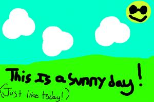 how to draw a sunny day