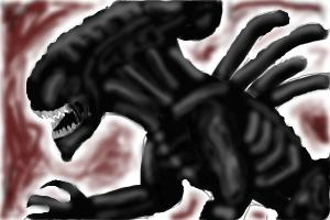 How to draw a Xenomorph