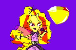 how to draw adagio dazzle from mlp rainbow rocks