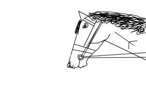 How to draw an easy horse. Quick tutorial!