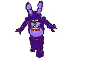 how to draw bonnie from five nights at freddy's