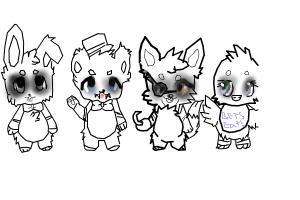 How to draw chibi fnaf <3