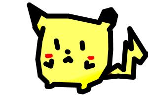 How to draw Chibi Pikachu