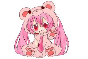 How to draw Chibi Sakura Miku