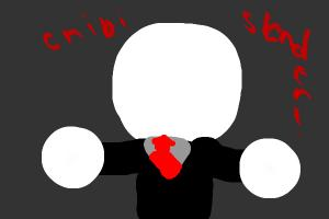 How to draw chibi Slender