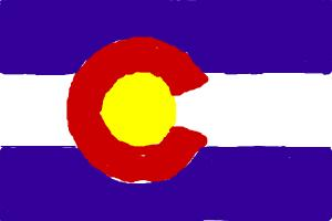 how to draw colorado flag