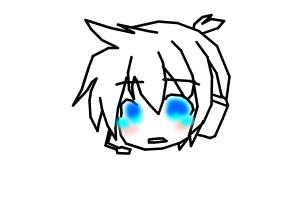 How to draw Crying Len Kagamine