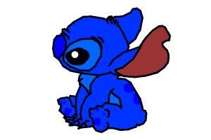 How to draw cute Stich