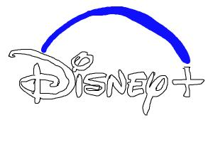 How to draw Disney+ logo
