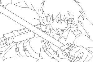 How to draw Eren