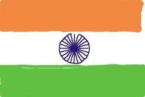 how to draw flag of inda