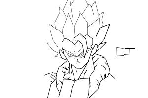 how to draw gogeta