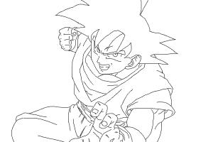how to draw goku