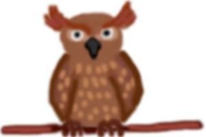 How to draw Great Horned Owl