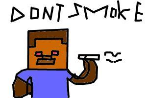 How to draw Herobrine Smoking