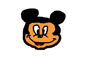 How to draw Micky Mouse