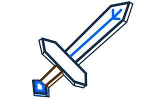 How to draw minecraft sword