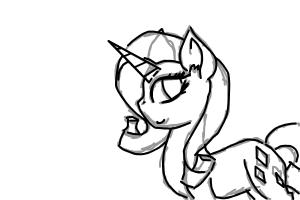 how to draw mlp rarity probs in me style