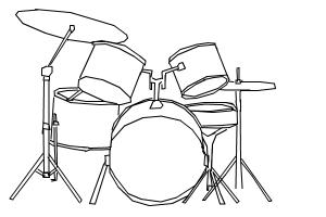 How to draw my drums