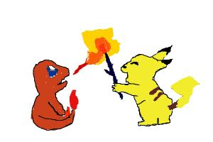 How to draw Pikachu and Charzard.