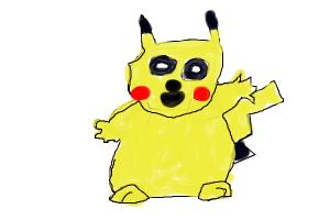 how to draw pikachu in water colors