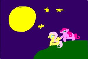 how to draw pinky pie and flutter shy