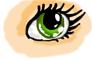 how to draw simple green eye