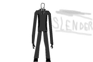 how to draw slender game
