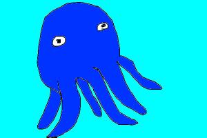 how to draw squid real life