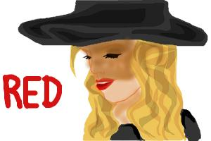 How to draw Taylor Swift RED