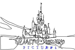 How to draw the 2006 Walt Disney pictures logo