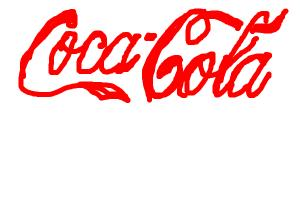 How to draw the Coca-Cola logo.