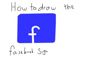 How to draw the fasebook sign!!
