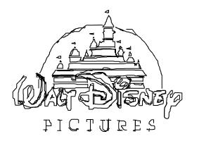 How to draw the Walt Disney Pictures logo