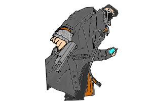 how to draw aiden pierce from watch_dogs