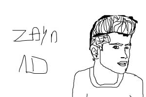 How to draw Zayn Malik from One Direction