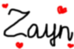 How to draw Zayn's name