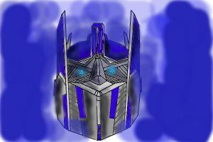 how to make the face of optimus prime