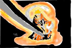 ichigo kurosaki with a orange light
