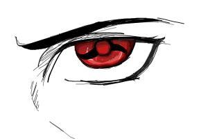 Itachi's Cursed Mangekyo (redraw)