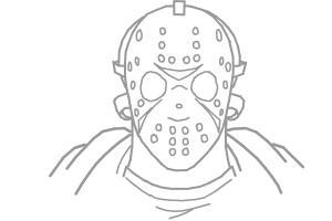 jason his mske how to draw