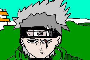 Kakashi face drawing